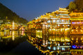 Fenghuang ancient town china phoenix sunset duak hunan province Royalty Free Stock Photo