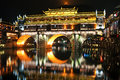 Fenghuang at night Royalty Free Stock Photography