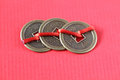 Fengshui chinese coins Royalty Free Stock Photo