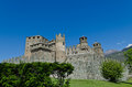 Fenis castle aosta valley italy in the Royalty Free Stock Photo