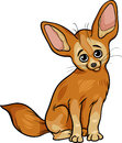 Fennec fox animal cartoon illustration of cute Stock Photo