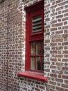 Fenster des roten backsteins Lizenzfreie Stockfotos