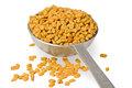 Fenugreek Seeds in Spoon Stock Photo