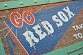 Fenway park is home of red sox boston usa apr on april in the oldest professional sports venue in the united states celebrating Royalty Free Stock Image