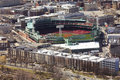 Fenway park stadium aerial view of the in boston massachusetts usa on a sunny spring day Stock Image