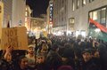 Ferguson decision protests in san francisco union square california on black friday after the missouri grand jury refused to Stock Photo