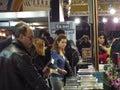 Feria de libro de gaudeamus Imagen de archivo libre de regalías