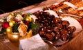 Feriado que janta - arranjo da sobremesa Fotos de Stock Royalty Free