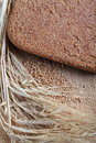 Ferment bread on home ear of wheat grain wheat Stock Photography