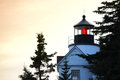 Fermez vous de bass harbor lighthouse Image libre de droits
