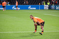 Fernandinho (Shakhtar) warming up Stock Photography