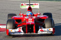 Fernando Alonso Ferrari F2012 Royalty Free Stock Photo