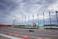 Fernando Alonso of McLaren Honda. Formula One. Sochi Russia Royalty Free Stock Photo