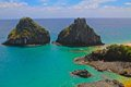 Fernando de noronha brazil two brothers rocks in Royalty Free Stock Image