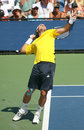 Fernando Gonzalez, Chile, Serving at the US Open Royalty Free Stock Images