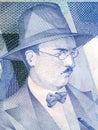 Fernando Pessoa portrait Royalty Free Stock Photo