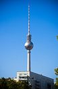 Fernsehturm tower in berlin germany Royalty Free Stock Image