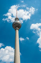 Fernsehturm view of the high in berlin Royalty Free Stock Photography