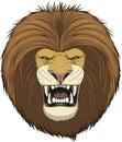 Ferocious lion head