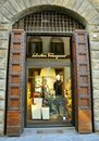 Ferragamo luxury fashion shop in Italy  Stock Photos