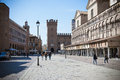 Ferrara view of the historic center of italy Royalty Free Stock Photography