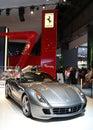 Ferrari 599 GTB Fiorano at Paris Motor Show Royalty Free Stock Photo