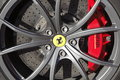 Ferrari brakes logo wheel and Royalty Free Stock Images