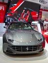 Ferrari ff geneva march grey on display at the th international motor show palexpo geneva on march in geneva switzerland Stock Images