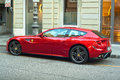 Ferrari ff trieste italy october view of red parked in trieste on october Royalty Free Stock Image