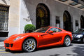 Ferrari 599 GTB Fiorano at the George V Hotel in Paris Royalty Free Stock Photo