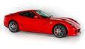 Ferrari 599 GTB Fiorano V12 Super Car Isolated White Background Studio Shot Royalty Free Stock Photo