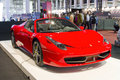 Ferrari spider barcelona may at barcelona international motor show salon internacional del automovil is one of the five major Royalty Free Stock Photo