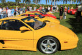 Ferrari sports car lineup at outdoors event in sou f and f cavallino concorso deleganza the breakers west palm beach south florida Stock Photos