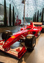 Ferrari world in abu dhabi this is the alonso racing f Stock Photo