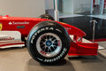 Ferrari world in abu dhabi this is the f racing nice close up on bridgestone tire Stock Photo