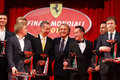 Ferrari world finals at mugello race track season winners of challenge and ceo luca cordero di montezemolo Stock Images