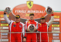 Ferrari world finals at mugello race track with trofeo pirelli coppa shell winner gentlemen driver Stock Photo
