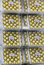 Ferrero rocha boxes of chocolates for sale in a supermarket Royalty Free Stock Images