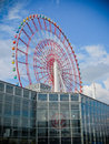 Ferris giant wheel in tokyo at odaiba Stock Photo