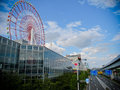 Ferris giant wheel in tokyo at odaiba Royalty Free Stock Images