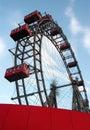 Ferris gigante rueda adentro Viena Imagen de archivo libre de regalías