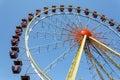 Ferris wheel against blue sky cabin clear Royalty Free Stock Photo