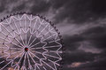 Ferris wheel against the dark sky with light decoration Stock Images