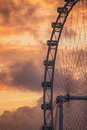 Ferris Wheel on the background of evening sky Royalty Free Stock Photo