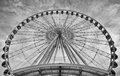 Ferris Wheel in Black and White Stock Image