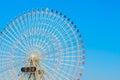 Ferris wheel with blue sky Stock Image