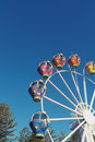 Ferris wheel with blue sky colourful against the summer Royalty Free Stock Photography