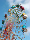 Ferris wheel with bright sky Stock Photos