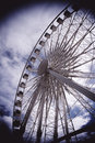 Ferris wheel brighton moody sky Stock Photo