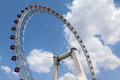Ferris wheel a built in china tianjin city called the eye of tianjin Royalty Free Stock Image